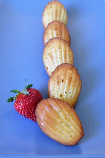 magdalenki ulozone w rzedzie , truskawka