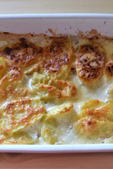 ziemniaki zapieczone, zlocisty wierzch
